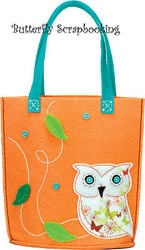 OWL TOTE Feltworks Fun Embroidery Kit by Dimensions NEW