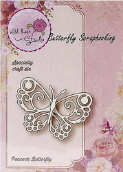 Peacock Butterfly Die Creative Die Cutting Die WILD ROSE STUDIO SD017 New