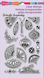 Pen Pattern Art Repeat Clear Unmounted Stamps Set Stampendous SSC1197 NEW