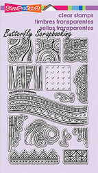 Pen Pattern Art Tile Clear Unmounted Stamps Set Stampendous SSC1206 NEW