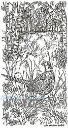 Pheasant In The Woods Bird Wood Mounted Rubber Stamp Northwoods Rubber Stamp New