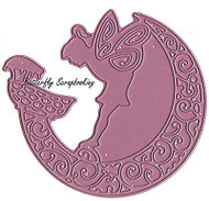 Pixie Guardian Moon American made Steel Die by Cheery Lynn Designs DIE DL217 New
