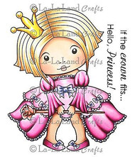 Princess Marci Stamp Set Cling Unmounted Rubber Stamp La La Land Crafts 5185 New
