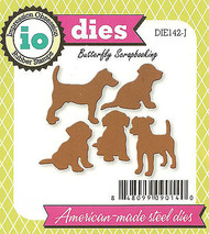 Puppy Dog Dogs Set American made Steel Dies by Impression Obsession DIE142-J New
