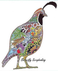 QUAIL BIRD Animal Spirit Cling Unmounted Rubber Stamp EARTH ART Sue Coccia New