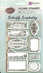 Remember Unmounted Rubber Stamps Set Rubber With Cling Foam Prima Inc. New