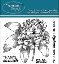 RHODODENDRON FLOWER Set Clear Unmounted Rubber Stamps TECHNIQUE TUESDAY New