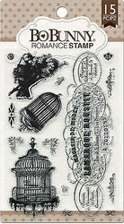 Bird ROMANCE Clear Unmounted Rubber Stamps Set 15 Stamps BoBunny 12105608 New