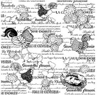 Rooster Cover A Card Background Unmounted Rubber Stamp Impression Obsession New