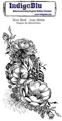 Rose Blush Flowers Cling Unmounted Rubber Stamp IndigoBlu Stamp INDO104 NEW