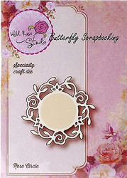 Rose Circle Die Creative Steel Die Cutting Dies WILD ROSE STUDIO SD008 New