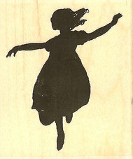 Running, Wood Mounted Rubber Stamp IMPRESSION OBSESSION - NEW, D13333