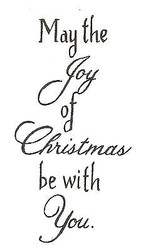 Saying Christmas Joy Wood Mounted Rubber Stamp Northwoods Rubber Stamp New