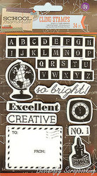 School Memories Collection, Cling Unmounted Stamp PRIMA MARKETING INC. - 569587
