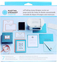 Self Inking Stamp Designer Starter Kit W Rubber Stamps Martha Stewart Crafts New