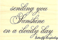 Sending Sunshine, Wood Mounted Rubber Stamp IMPRESSION OBSESSION - NEW, D8743