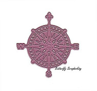 Ship's Compass, Steel Cutting Dies CHEERY LYNN DESIGNS - NEW, B395