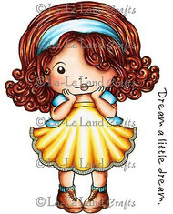 Shy Marci Stamp Set Cling Unmounted Rubber Stamp La La Land Crafts 5245 New