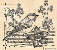 Singer's Muse, Wood Mounted Rubber Stamp PENNY BLACK - NEW, 4309L