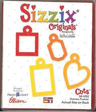 SIZZIX Large Die CHARMS FRAMES Sizzix Die # 38-1052