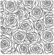 SKETCHED ROSES Cover A Card Background Unmounted Rubber Stamp IO Stamp CC187 New