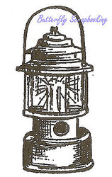Small Lantern Wood Mounted Rubber Stamp Northwoods Stamp C9551 New