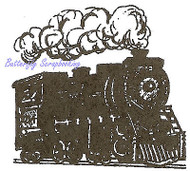 Small Train Engine Wood Mounted Rubber Stamp Northwoods Stamp C9550 New
