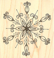 Snowflake #2, Wood Mounted Rubber Stamp IMPRESSION OBSESSION - NEW, D2106