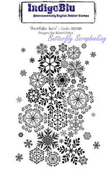 Snowflake Lace Cling Unmounted Rubber Stamp Mixed Media Art IndigoBlu Stamp NEW
