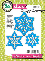 Snowflakes Cutout American made Steel Dies by Impression Obsession DIE241-ZZ New