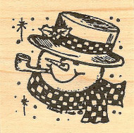 Snowman Face B, Wood Mounted Rubber Stamp NORTHWOODS - NEW, CC7665