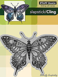 Soft Wings Butterfly Cling Style Unmounted Rubber Stamp PENNY BLACK- NEW, 40-099