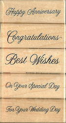 SPECIAL MESSAGES SET 5 Wood Mounted Rubber Stamp Set STAMPENDOUS #SWS021 NEW