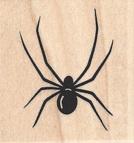 Spider Wood Mounted Rubber Stamp IMPRESSION OBSESSION Insect Halloween New