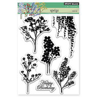 Sprigs, Clear Unmounted Rubber Stamp Set PENNY BLACK- NEW, 30-284