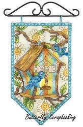 SPRING Bird Mini Banner Debbie Mumm Dimensions Cross Stitch Kit 72-74133 NEW