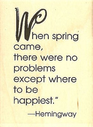 Spring Came Text, Wood Mounted Rubber Stamp IMPRESSION OBSESSION - NEW, D14404