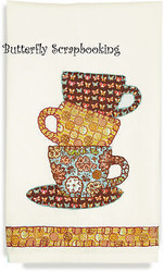 Stacked TEACUP Towel Embroidery Kit by Dimensions 72-73690 NEW
