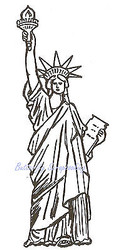 Statue Of Liberty Wood Mounted Rubber Stamp NORTHWOODS D1187 New