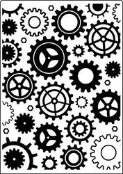 Steampunk Cogs & Gears Embossing Folder 5x7 inch by Crafts Too CTFD 3097  New