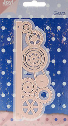 Steampunk Cogs Gears Border Die Steel Dies by Joy! Crafts DIE # 6002/0288 New