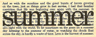 Summer Collage Saying Verse Wood Mounted Rubber Stamp Impression Obsession NEW