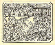 Sunflowers & Hollyhocks, Wood Mounted Rubber Stamp NORTHWOODS - NEW, P9788