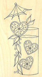 Sweet LEMONADE Wood Mounted Rubber Stamp Impression Obsession Stamp E2306 NEW