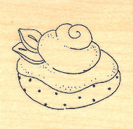 Sweetly Topped Treat Wood Mounted Rubber Stamp Impression Obsession New