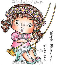 Swing Marci Stamp Set Cling Unmounted Rubber Stamp La La Land Crafts 5209 New