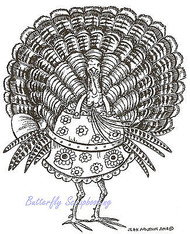 Thanksgiving Turkey Cook Wood Mounted Rubber Stamp Northwoods Rubber Stamp New
