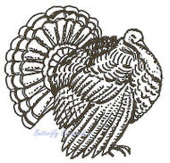 Thanksgiving Turkey Wood Mounted Rubber Stamp NORTHWOODS E2753 New