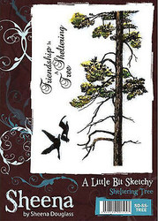 The Sheltering Tree Scene Cling Unmounted Rubber Stamp Set SHEENA DOUGLASS New