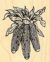 Three Hanging Corn, Wood Mounted Rubber Stamp NORTHWOODS - NEW, E7624